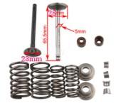 Set supape motor 125 cc  (motor orizontal)