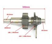 Ax transmisie cutie viteza atv 200-250cc (dinti 18 / 22 )