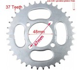 Pinion spate 110-125cc  (37dinti, Pasul-428)