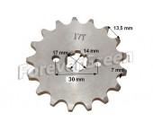 Pinion fata 110-125 cc , 428/17 dinti (ax 17mm)