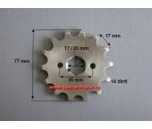 Pinion fata 250cc ( pas 520) ,ax 20mm,dinti 14