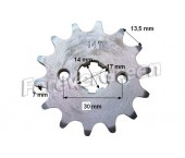 Pinion fata 110-125 cc , 428/14 dinti (ax 17mm)